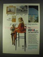 1967 USF&G Insurance Ad - Your Canvas, Your Cargo