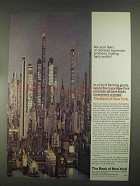 1967 Bank of New York Ad - Overseas Expansion