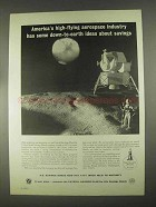 1967 U.S. Savings Bonds Ad - Aerospace Industry