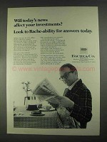 1967 Bache & Co. Ad - News Affect Your Investments