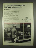 1967 Bache & Co. Ad - Don't Feel Like an Outsider