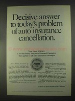 1967 Allstate Insurance Ad - Decisive Answer to Problem