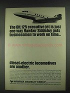 1967 Hawker Siddeley DH.125 Executive Jet Ad