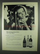 1967 Taylor Wine Ad - Why Do Dinner Parties Go Better