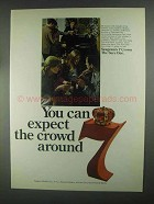 1967 Seagram's 7 Crown Whiskey Ad - Expect the Crowd