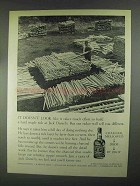 1967 Jack Daniel's Whiskey Ad - Build Hard Maple Rick