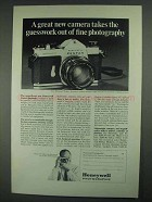 1967 Honeywell Pentax Spotmatic Camera Ad - Guesswork