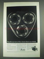 1967 Norelco Tripleheader Shaver Ad - Beard's Eye View