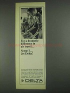 1967 Delta Airline Ad - A Dramatic Difference in Travel