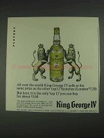 1967 King George IV Scotch Ad - All Over the World