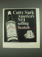 1967 Cutty Sark Scotch Ad - America's No. 1 Selling
