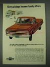 1967 Chevy Fleetside Pickup Truck Ad - Family Affairs