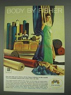 1967 GM Body by Fisher Ad - Finest Fabrics in World