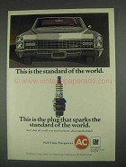 1967 GM AC Spark Plugs Ad - The Standard of the World