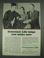 1967 Interstate Life Insurance Ad - Helps You Make Sure