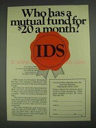 1967 IDS Investors Diversified Services, Inc Ad!