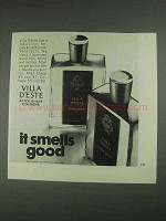 1967 Villa D'Este After Shave Cologne Ad - Smells Good