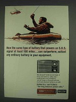 1967 Mallory Duracell Batteries Ad - S.O.S. Signal