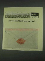 1967 Mead Bond Paper Ad - Is it True Have More Fun?