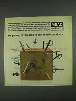 1967 Mead Corrugated Containers Ad - Go Great Lengths