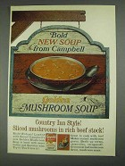 1967 Campbell's Golden Mushroom Soup Ad - Bold