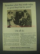 1967 Robert Bosch Corporation Ad - Last for Years