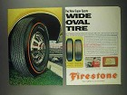 1967 Firestone Wide Oval Tire Ad - New Super Sports