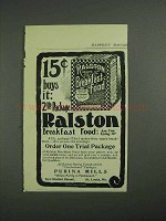 1902 Ralston Health Breakfast Food Ad - 2lb Package