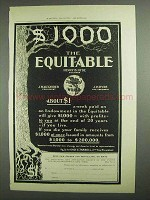 1903 The Equitable Insurance Ad - $1000