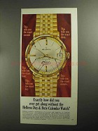 1968 Helbros Date-King Watch Ad - Get Along Without