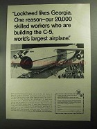 1968 Georgia Industry & Trade Ad - Lockheed C-5
