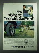1968 Firestone Wide Oval Tires Ad - Rallying Cry