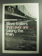 1968 The Milwaukee Road Railroad Ad - More Trailers