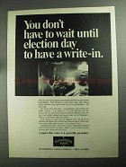 1968 Hammermill Bond Paper Ad - Wait Until Election Day