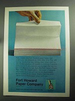 1968 Fort Howard Paper Towel Ad