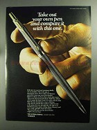 1968 Parker International Classic Ball Pen Ad - Compare