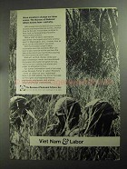 1968 The Bureau of National Affairs Ad - Viet Nam