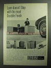 1968 Lyon Office Furniture Ad - Most Durable Finish