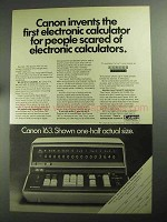 1968 Canon 163 Calculator Ad - For People Scared Of