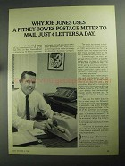 1968 Pitney-Bowes Postage Meter Ad - Joe Jones