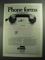 1968 Xerox Telecopier Ad - Phone Forms