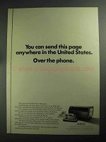 1968 Xerox Telecopier Ad - Send This Page Anywhere
