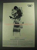 1968 Teletype Equipment Ad - Keyed to Speed Production