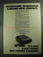 1968 Dictaphone 400 Dictation Machine Ad - Compact
