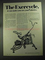 1968 Exercycle Exercise Machine Ad - Use Calories
