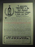 1968 Tricorn Sandalwood Cologne Ad - Best Can Buy