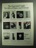 1968 Corday Fame Perfume Ad - The Essential Guide
