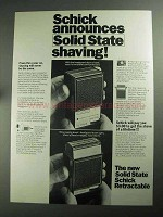 1968 Schick Solid State Retractable Shaver Ad