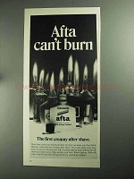 1968 Mennen Afta After Shave Ad - Afta Can't Burn