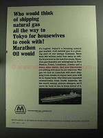 1968 Marathon Oil Ad - Shipping Natural Gas To Tokyo